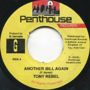 Cover - Tony Rebel: Another Bill Again