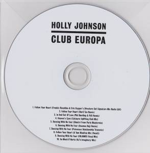 Cover - Holly Johnson: Club Europa
