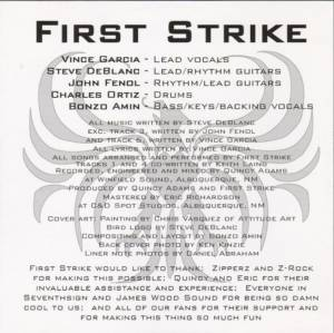 First Strike: First Strike (CD) - Bild 2
