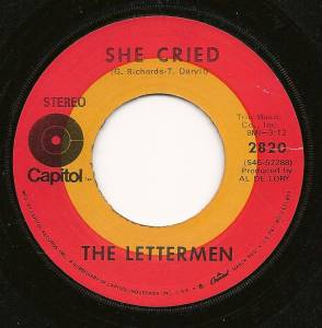 Cover - Lettermen, The: She Cried