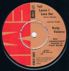 Cover - Ricky Valance: Tell Laura I Love Her