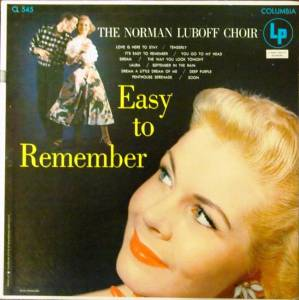 Cover - Norman Luboff Choir: Easy To Remember