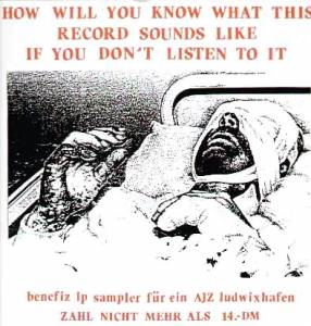 Cover - Resistance: How Will You Know What This Record Sounds Like If You Don't Listen To It