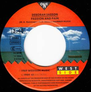 "Deborah Sasson: Passion And Pain (7"") - Bild 2"