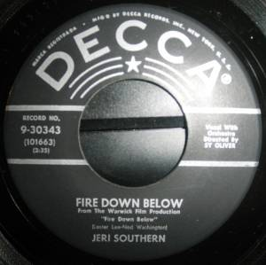 Cover - Jeri Southern: Fire Down Below