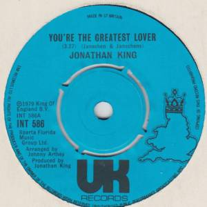 Jonathan King: You're The Greatest Lover - Cover