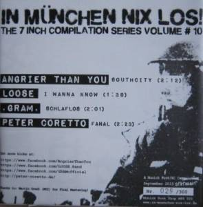 Cover - .Gram.: In München Nix Los! The 7 Inch Compilation Series Volume # 10