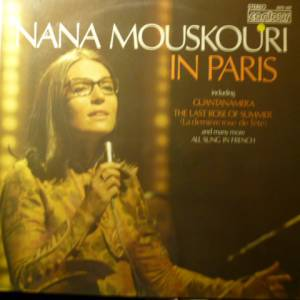 Cover - Nana Mouskouri: Nana Mouskouri In Paris