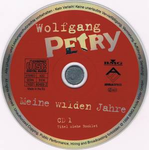 wolfgang petry meine wilden jahre 1 cd 1998 compilation. Black Bedroom Furniture Sets. Home Design Ideas