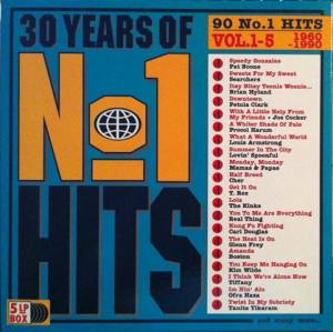 Cover - Guillermo Marchena: 30 Years Of No. 1 Hits Vol. 1-5 - 1960-1990 - 90 No. 1 Hits