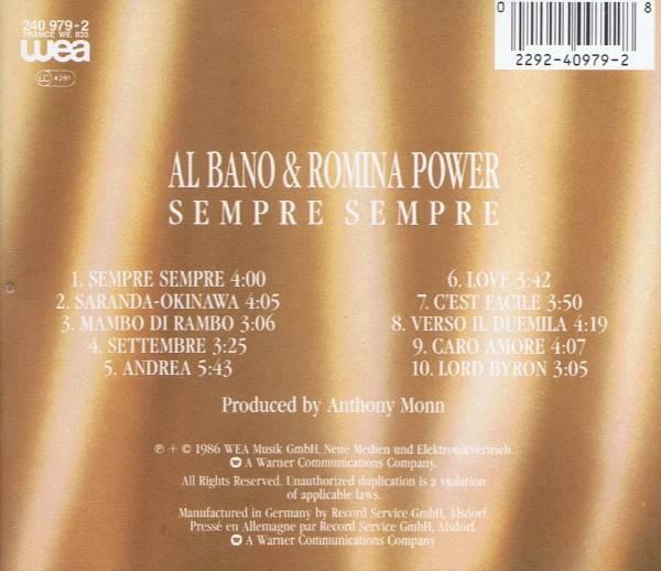 Al Bano Romina Power Sempre Sempre Cd 1986