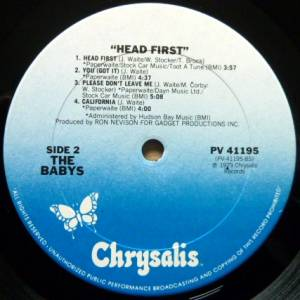 The Babys:Head First - LP, 1979, Re-Release
