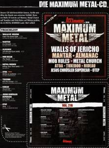 Metal Hammer - Maximum Metal Vol. 216 (CD) - Bild 6