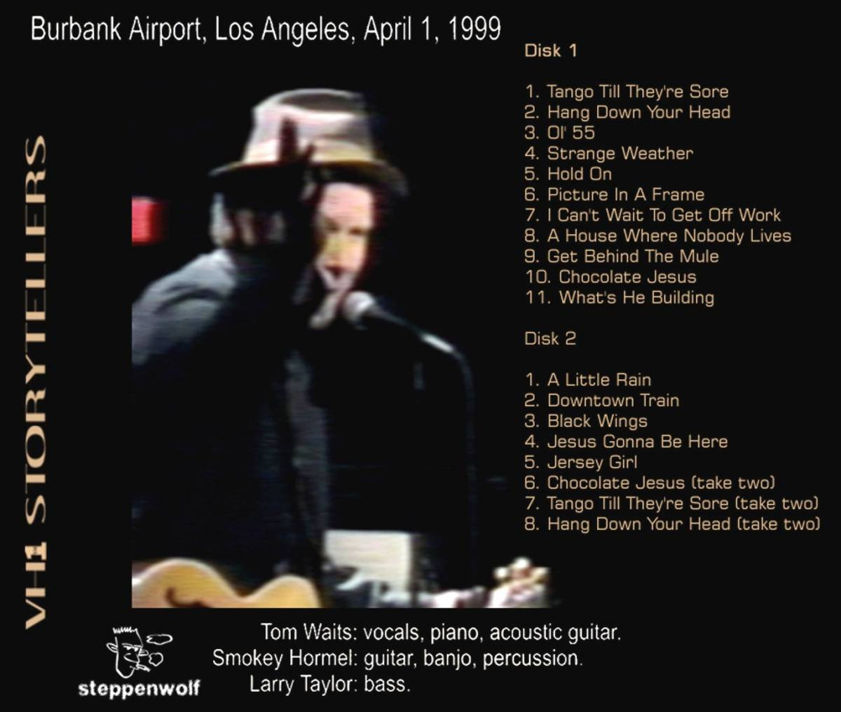Tom Waits:VH1 Storytellers - 2-CD, 1999, Bootleg, Live, Remastered