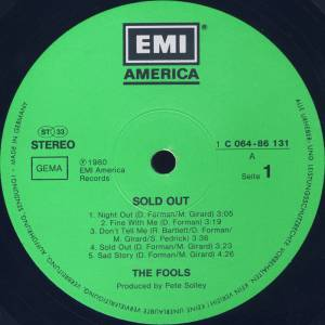 The Fools: Sold Out (LP) - Bild 3