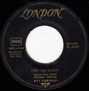 Roy Orbison: Only The Lonely - Cover