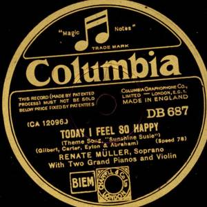 Cover - Renate Müller: Today I Feel So Happy