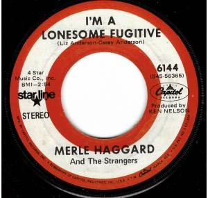 Cover - Merle Haggard And The Strangers: I'm A Lonesome Fugitive / Branded Man