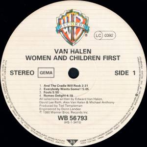 Van Halen: Women And Children First (LP) - Bild 3