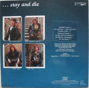 Vendetta: Go And Live... Stay And Die (LP) - Bild 2