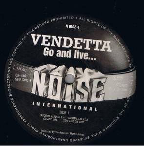 Vendetta: Go And Live... Stay And Die (LP) - Bild 3
