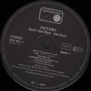 Victory: Don't Get Mad... Get Even (LP) - Bild 3