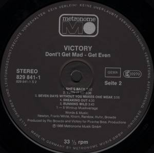 Victory: Don't Get Mad... Get Even (LP) - Bild 4
