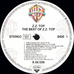 ZZ Top: The Best Of ZZ Top (LP) - Bild 3