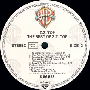 ZZ Top: The Best Of ZZ Top (LP) - Bild 4