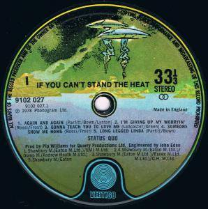 Status Quo: If You Can't Stand The Heat... (LP) - Bild 6