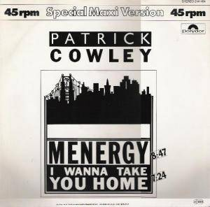 Patrick Cowley: Menergy - Cover