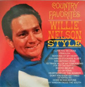 Cover - Willie Nelson: Country Favorites - Willie Nelson Style