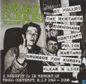 Angry Scenes 4 - A Benefit CD In Memory Of Trogg Contempt (R.I.P) - Cover
