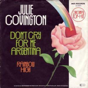 Julie Covington: Don't Cry For Me Argentina - Cover