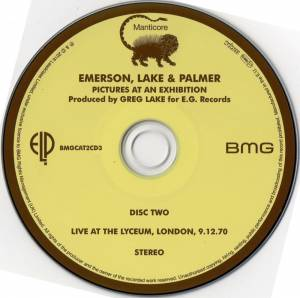 Emerson, Lake & Palmer: Pictures At An Exhibition (2-CD) - Bild 4