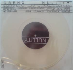 Cover - Orphx: Nullity