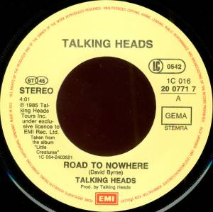 "Talking Heads: Road To Nowhere (7"") - Bild 3"