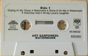 Art Garfunkel: Watermark (Tape) - Bild 2
