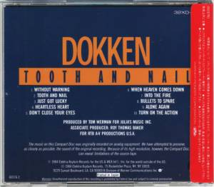 Dokken: Tooth And Nail (CD) - Bild 2