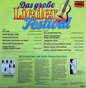 Das Große Lieder Festival Lp 0