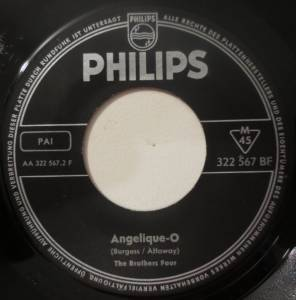 Cover - Brothers Four, The: Greenfields / Angelique-O