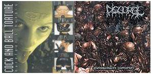 Cover - Disgorge: Barefoot & Hungry / Goremassacre Perversity