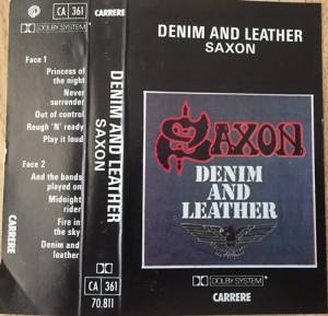 Saxon: Denim And Leather (Tape) - Bild 4