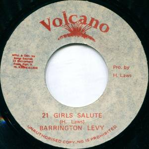Cover - Barrington Levy: 21 Girls Salute