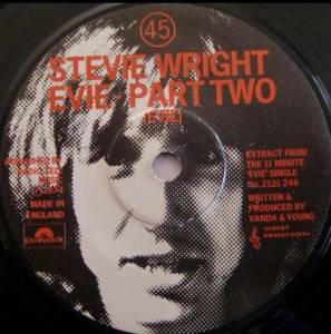 Cover - Stevie Wright: Evie - Part Two (Evie)