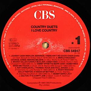 Country Duets - I Love Country (LP) - Bild 3