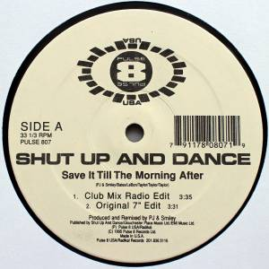 Cover - Shut Up And Dance: Save It Till The Morning After