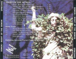 Demon: Night Of The Demon (CD) - Bild 2
