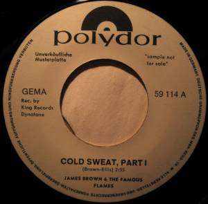 Cover - James Brown & The Famous Flames: Cold Sweat - Part I