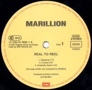 Marillion: Real To Reel (LP) - Bild 3